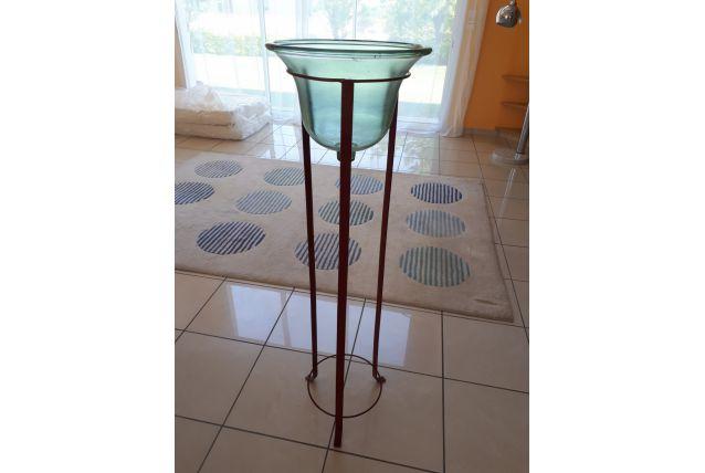 support vasque verre