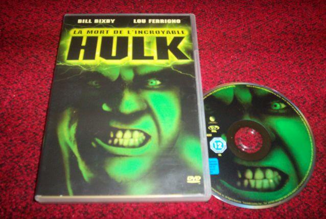 DVD LA MORT DE l'incroyable hulk