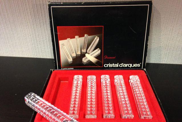 Porte couteaux cristal d'arques